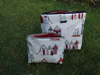 CM0216 and CM0217 Beach Huts Cosmetic Bags