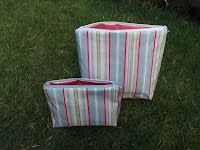 CM0212 and CM0213 Candy Striped Cosmetic Bags