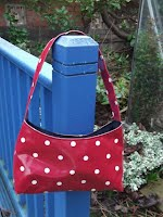 ED0198 Small Square Style - Red Spotty Oilcloth