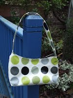 ED0200 Small Square Style - Green and Grey Dots