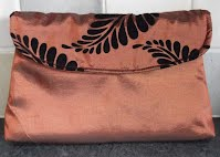 EV0027 Bronze Silk with Black Ferns