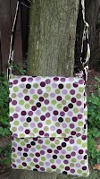 MS0071 Purple and Lime Dots Medium Adjustable