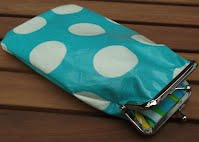PS0102 Turquoise Dots Glasses Case