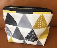 CM1112 Mustard and Grey Triangles