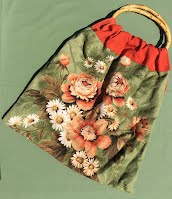 HH0081 Vintage Floral Knitting Bag